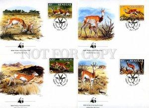 239829 SENEGAL WWF antelope 1986 year set of 4 FDC