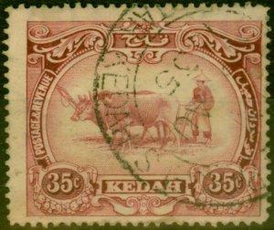 Kedah 1926 35c Purple SG59 Good Used