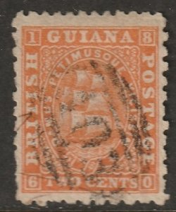 British Guiana 1866 Sc 51a used red orange