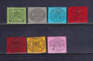 Roman States 12-18 Set MHR Papal Coat of Arms