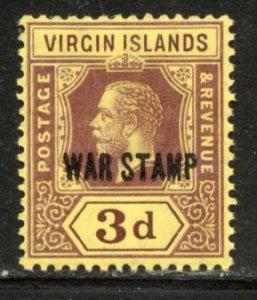 Virgin Island # MR2, Mint Hinge. CV $ 7.00