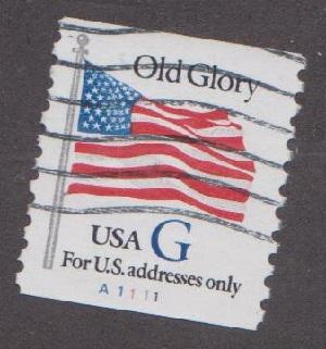 US 2890 Old Glory Used PNC Single Plate A1111 HipStamp