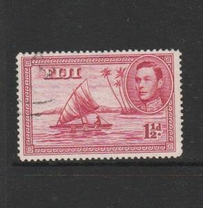 Fiji 1938/55 1 1/2d P14 FU SG 252b