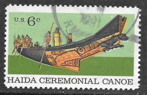 USA 1389: 6c Tlingit Chief in Haida Ceremonial Canoe, used, VF