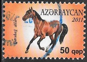 Azerbaijan 972 Used - Karabakh Horse (Equus ferus caballus)