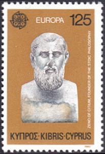 Cyprus 534 Zeno of Cenium Stoicism Europa CEPT 1980 MNH