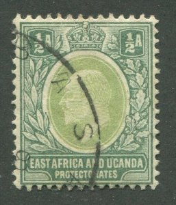 EAST AFRICA & UGANDA PROTECTORATES #1 USED VF