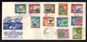 1958 Pitcairn Islands Cover  Comp Set # 20-30