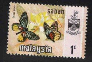 Malaysa Sabah  Scott 24 MH* Butterfly stamp