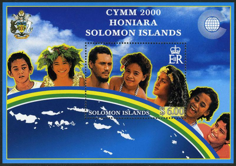 Solomon Islands 894 S/S, MI Bl.60,MNH.Commonwealth Youth Minister's Meeting,2000