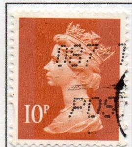 Great Britain Sc MH206 1993 10p brown orange  QE II  Machin Head stamp used