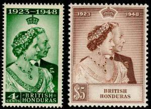 BRITISH HONDURAS SG164-165, COMPLETE SET, NH MINT. Cat £27. RSW.