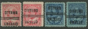CANADA PRECANCEL OTTAWA 1-90, 1-90-I, 1-91, 1-91-I