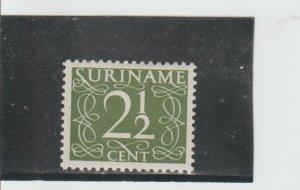 Suriname  Scott#  214  MH  (1948 Numeral)