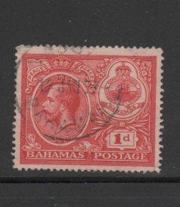 BAHAMAS #66  1920  1p KING GEORGE VI & SEAL OF BAHAMAS    F-VF USED