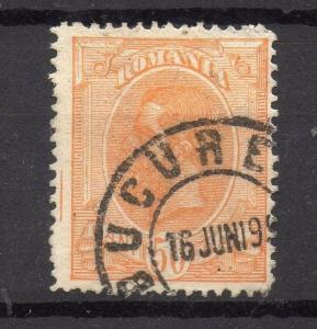 Romania 1893 Carol Early Issue Fine Used 50b. 178792