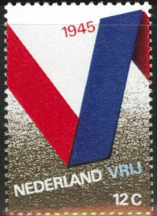 Netherlands Scott 482 MNH** 25c 1970 V for Victory stamp