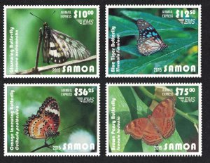 Samoa Butterflies Express Mail 4v Face Value £45+ CV£98.75 SG#E1-E4 CV£90+...