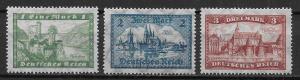 Germany 337-39 Castles set Unused LH