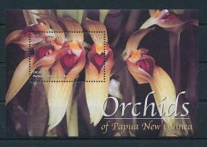 Papua New Guinea MNH S/S 1035 Orchids Flowers