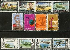 SOLOMON IS. Sc#333-344 1976 Three Complete Sets OG Mint LH