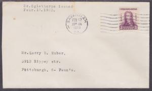US Planty 726-4 FDC. 1933 Oglethorpe w/ Savannah, GA Chamber of Commerce Cachet