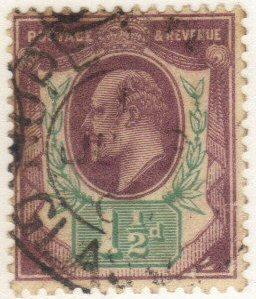 Great Britain #129 used - 1-1/2p king