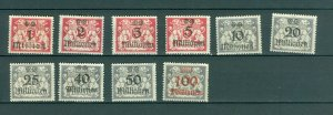 Danzig. Germany. 1923. Lot 10 Different MH. With Overprint.