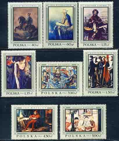 Poland 1968 Sc 1602-9 Polish Artist Painting Art Stamp MH
