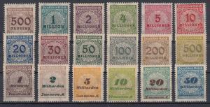 GERMANY Reich 1923 Mi# 313-330 A MNH