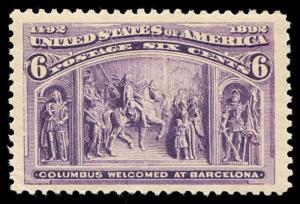 momen: US Stamps #235 Mint OG NH PSE Cert Jumbo