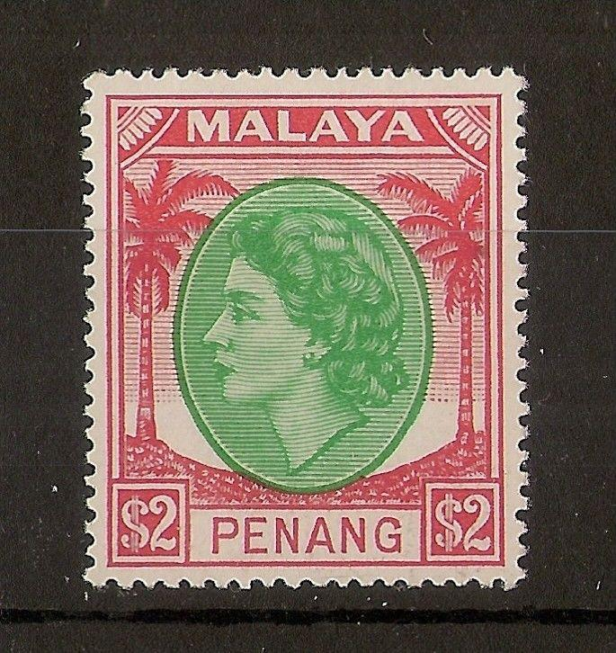 Penang 1954 $2 SG42 Mint Cat£21