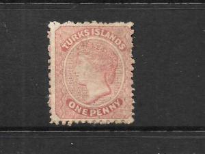 TURKS ISLANDS  1867   1d   QV    MNG     SG 1