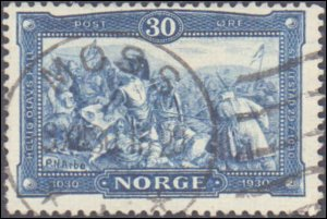 Norway #153, Incomplete Set, High Value, 1978, Used