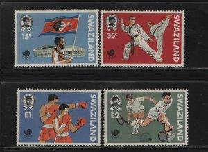 SWAZILAND 535-538 (4) Set, Hinged, 1988 Summer Olympics