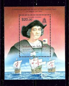 Solomon Is 1051A MNH 2006 Christopher Columbus and Ships S/S