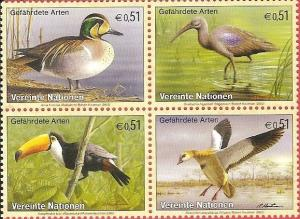 United Nations Vienna 2003 Cat # 332 Block Endangered Species MNH