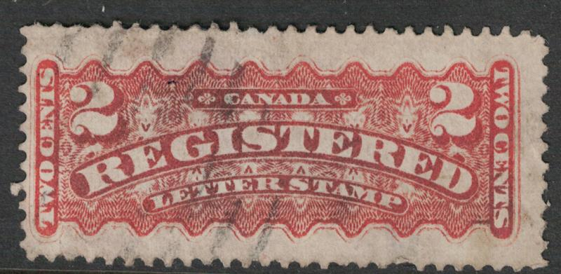 Canada #  F1  Used  VF  light cancel  perf 12  Cat $ 9