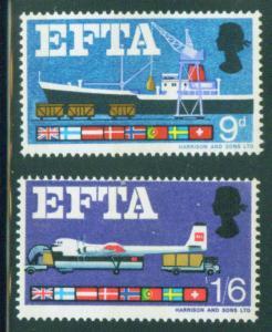 Great Britain Scott 480-81 stamp set MH*