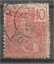 INDO-CHINA, 1904, used 10c, France, Scott 28