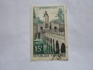 FRANCE STAMP USED FINE CON NO HINGE MARKS # 837