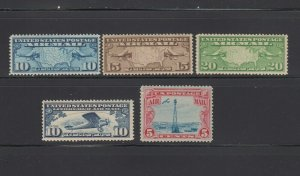 US,C7-C9,C10,C11,MNH,VF-XF,1920'S AIRMAIL COLLECTION MINT NH,OG