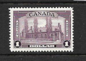 CANADA 1937-38    $1   VIOLET   MNH    Sc 245