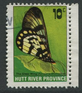 HUTT RIVER PROVINCE: 10c THE GLASS WING BUTTERFLY - USED