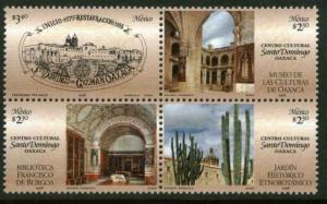 MEXICO 2089, Opening Santo Domingo Cultural Center. BLOCK. MINT, NH. VF. (69)