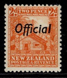 NEW ZEALAND GVI SG O123, 2d orange, M MINT. Cat £13.
