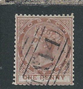 TOBAGO 1880 1d VENETIAN RED FU SG 9 CAT £70