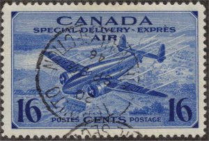 CANADA - 16c Air Mail Special Delivery SCCE1 1942 Used