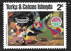 Turks & Caicos Islands #445 2c Christmas-Scenes from Pinocchio MHR