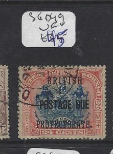 NORTH BORNEO  (PP1912B)  24C ARMS, LION  POSTAGE DUE SG D49   VFU